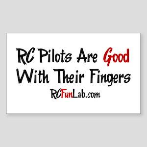 Good Fingers Rectangle Sticker