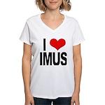 I Love Imus Women's V-Neck T-Shirt