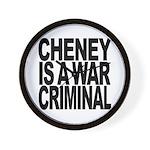 Cheney Is A War Criminal Wall Clock