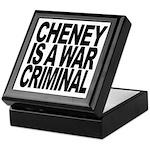 Cheney Is A War Criminal Keepsake Box