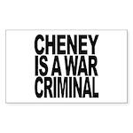 Cheney Is A War Criminal Rectangle Sticker