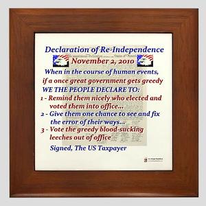 Declaration of Re-Independence Framed Tile