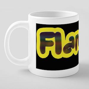 Flaming black JP 20 oz Ceramic Mega Mug