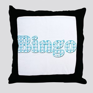 Bingo Hearts text Throw Pillow