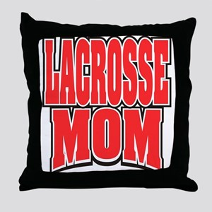Lacrosse Mom Throw Pillow