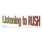 Listening to Rush Bumper Sticker (10 pk)