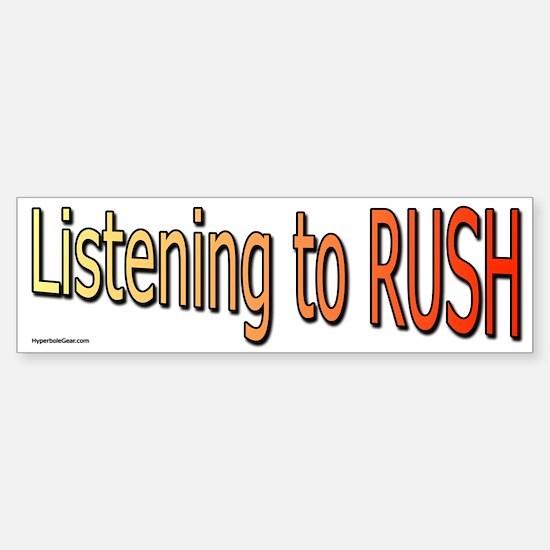 Listening to Rush Bumper Bumper Bumper Sticker