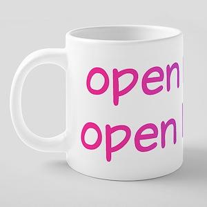 openmind,openheart 20 oz Ceramic Mega Mug