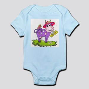Purple Cow Red Hat Infant Creeper