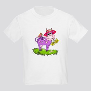 Purple Cow Red Hat Kids T-Shirt
