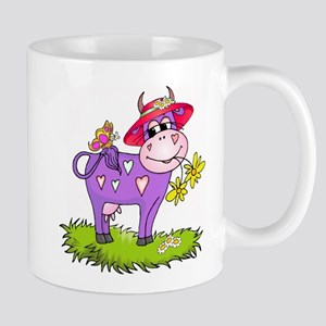 Purple Cow Red Hat Mug
