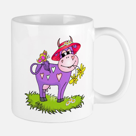 Purple Cow Red Hat Mug