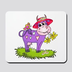 Purple Cow Red Hat Mousepad