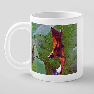(7)Sunning Fruit Bat.PNG 20 oz Ceramic Mega Mug