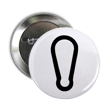 """carabiner icon 2.25"""" Button (100 pack)"""