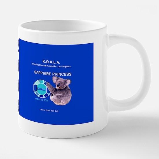 Sapphire KOALA mug 20 oz Ceramic Mega Mug