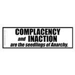 Complacency (Bumper Sticker 50 pk)