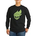 Skater Punk Skull Long Sleeve Dark T-Shirt