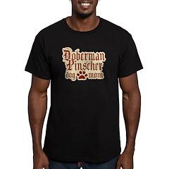 Doberman Pinscher Mom Men's Fitted T-Shirt (dark)