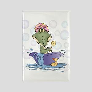 Crazy Gator Bathtime Rectangle Magnet
