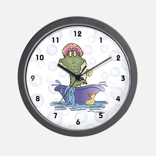 Crazy Gator Bathtime Wall Clock