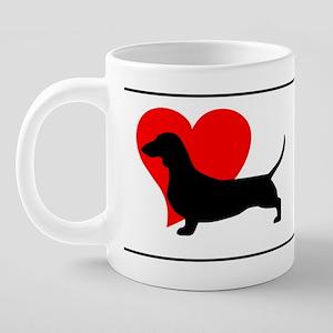 DoxieLovemug 20 oz Ceramic Mega Mug
