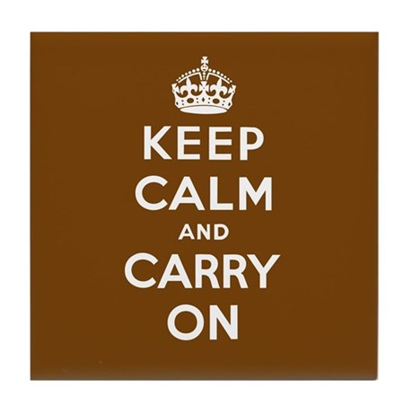 Keep Calm and Carry On Tile Coaster