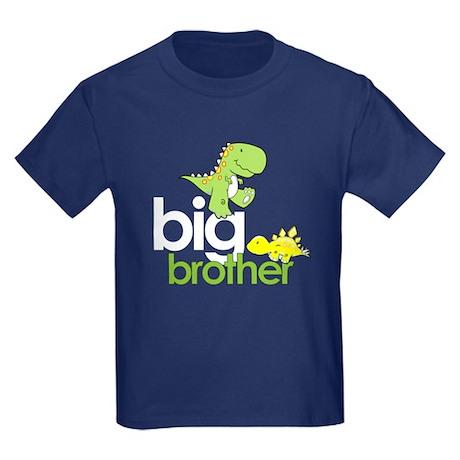 big brother t-shirt dinosaur Kids Dark T-Shirt