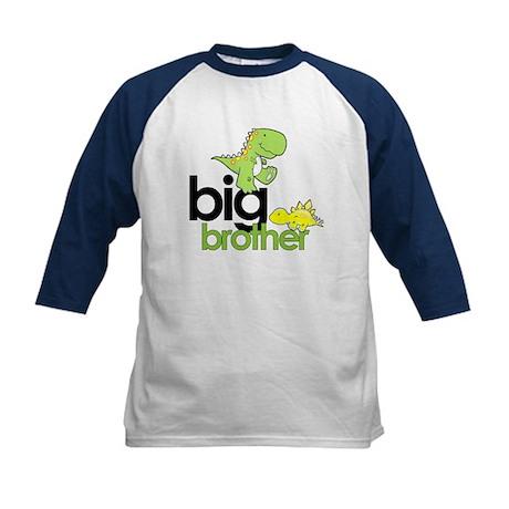 big brother t-shirt dinosaur Kids Baseball Jersey