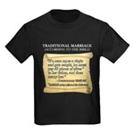 Traditional Marriage Kids Dark T-Shirt