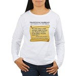 Traditional Marriage Women's Long Sleeve T-Shirt