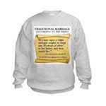 Traditional Marriage Kids Sweatshirt