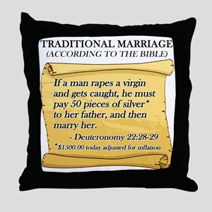 Traditional Marriage Throw Pillow