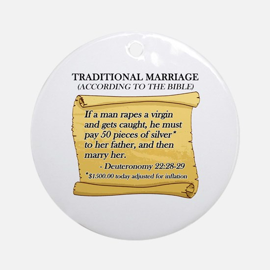 Traditional Marriage Ornament (Round)