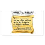 Traditional Marriage Rectangle Sticker