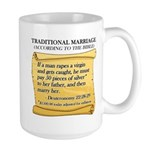 Traditional Marriage Large Mug