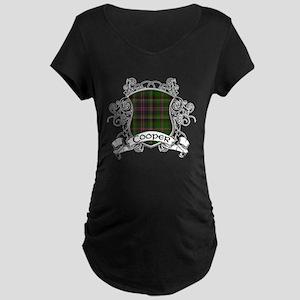 Cooper Tartan Shield Maternity Dark T-Shirt