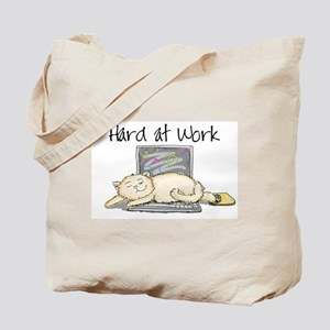Kitty Hard at Work Tote Bag