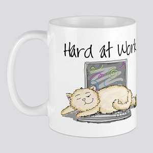 Kitty Hard at Work Mug