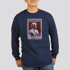 Twain - Patriotism Long Sleeve Dark T-Shirt