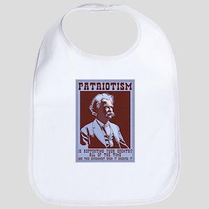 Twain - Patriotism Cotton Baby Bib