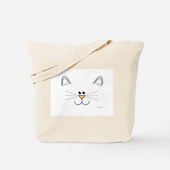 Cute Kitty Face Tote Bag