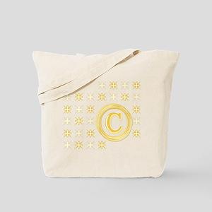 """Monogrammed """"C"""" Tote Bag"""