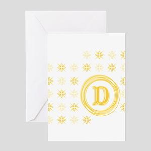 "Monogrammed ""D"" Greeting Card"