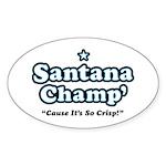 'Champ' so Crisp Oval Sticker (50 pk)