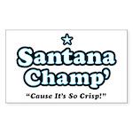 'Champ' so Crisp Rectangle Sticker 50 pk)