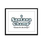'Champ' so Crisp Framed Panel Print