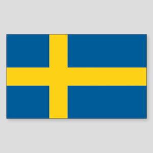 Swedish Flag Rectangle Sticker