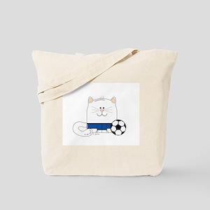 Soccer Kitty Tote Bag
