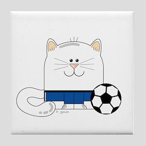 Soccer Kitty Tile Coaster